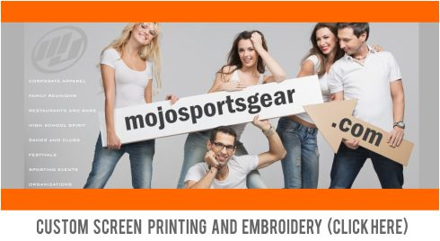 Mojo Corporate Gear - Get your custom full dye sublimated jerseys. Sports include softball, baseball, volleyball, soccer, football. We also specialize in corporate apparel